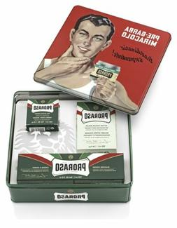 Proraso Vintage Gino Tin Gift Set, Refreshing and Toning For
