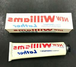 Vintage NEW Williams Lather Shaving Cream NOS 4 oz Tube 1950