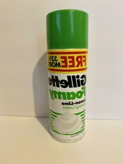 VTG Gillette Foamy Shaving Cream Men Lemon Lime 14.75 oz New