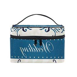 MaMacool Wedding Gold Pattern Cosmetic Bags for women Travel