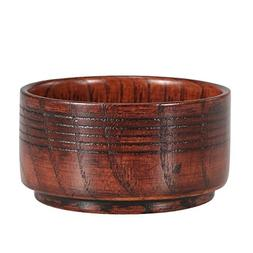 Wooden Shaving Brush Bowl Anti-adhering Shaving Mug Shave Cr